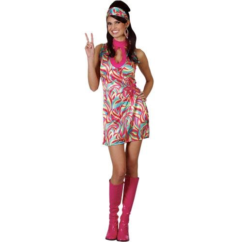 70's Pink Swirl Dress