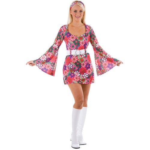 60's / 70's Flower Hippy Dress