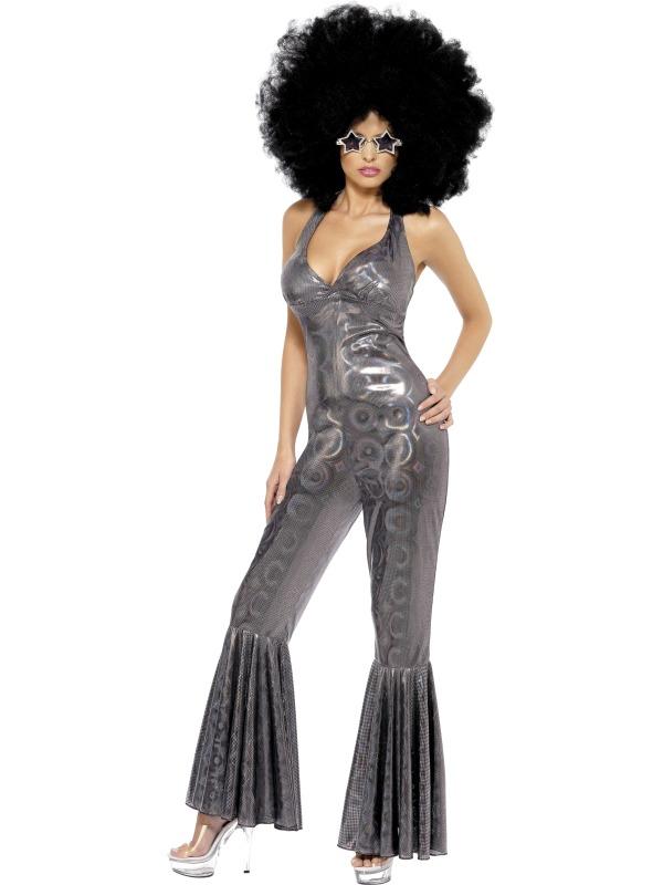 70's Disco Diva , black silver