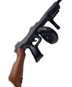 GANGSTER: Inflatable tommy gun