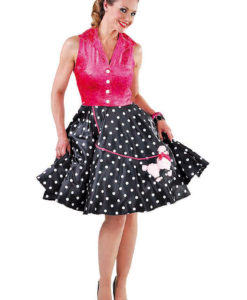 Ladies 1950's rock and roll poodle dress