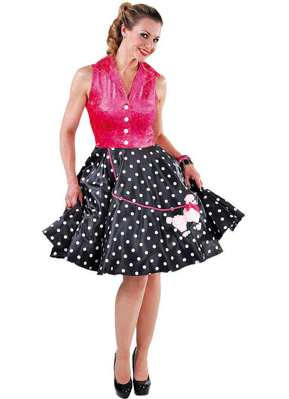 b20546319ca9 Ladies 1950's rock and roll poodle dress – Fantasy World