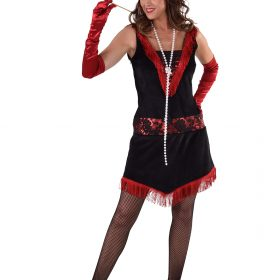 1920'S Red and Black Charleston dress