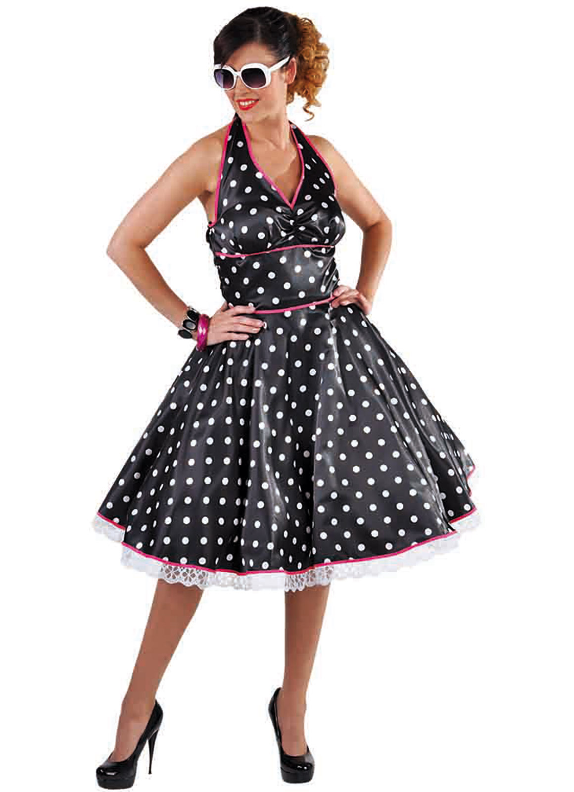 1950's polka dot rock and roll dress