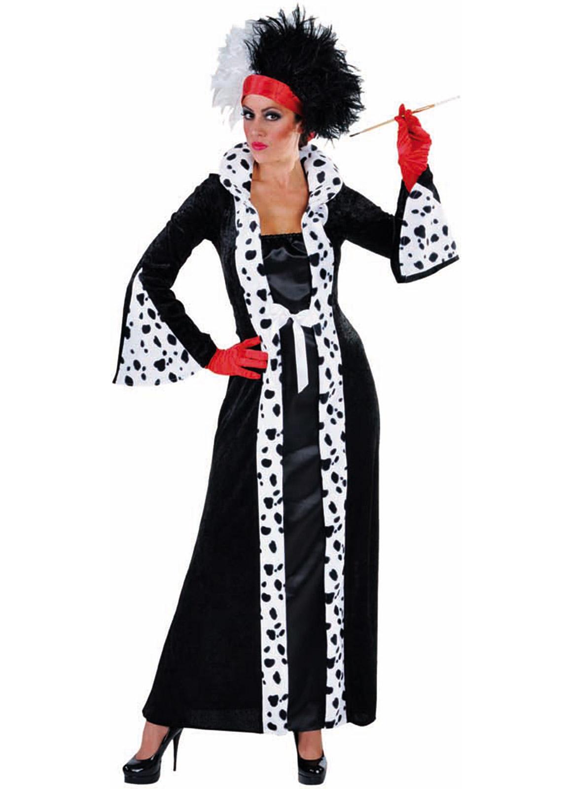 cruella deville evil madam costume fantasy world. Black Bedroom Furniture Sets. Home Design Ideas