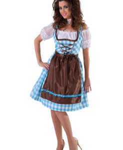 DIRNDL TURQ / BROWN.