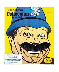 Police man moustache