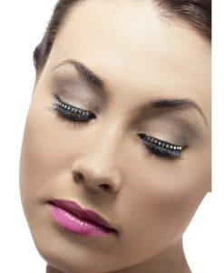 Eyelashes - Black with Diamante