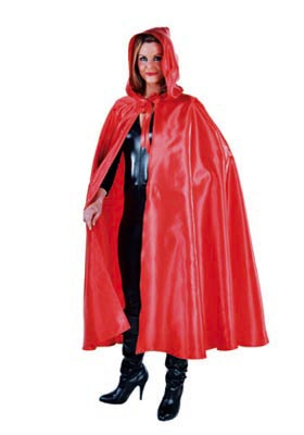 Deluxe Hooded Cloak - Red