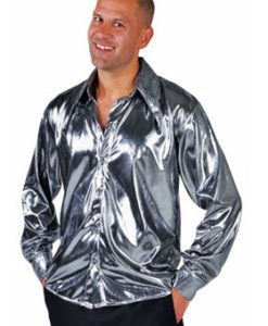 Liquid Silver Metallic Shirt