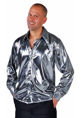 Liquid Silver Metallic Shirt