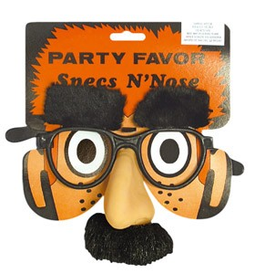 GLASSES: Groucho Nose tash and eyebrow