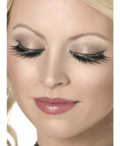 Eyelashes - Black with Crystals