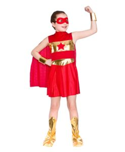 Children's - Red superhero -Girl