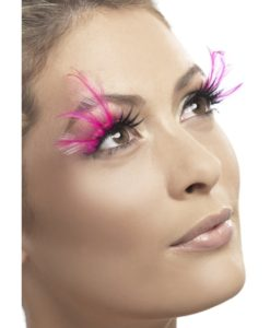 Eyelashes - Pink Feathered