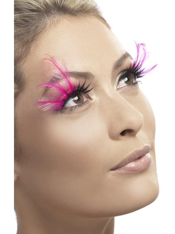 Eyelashes - Pink Feathered