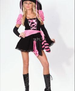 Pink Punk Pirate Costume