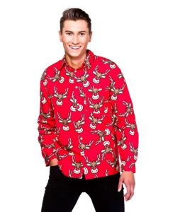 Christmas Shirt - Red Reindeer