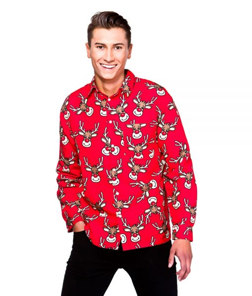 Christmas Shirt - Red Reindeer