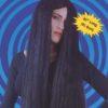 Wig - Halloween , 3ft black