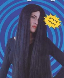 Wig - Halloween , 3ft black