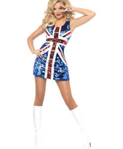 Sequinned Union Jack Dress