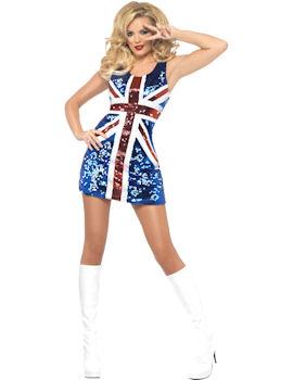 Sequinned Union Jack Dress