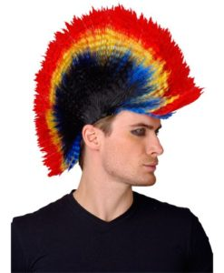 Punk Mohawk Wig - coloured