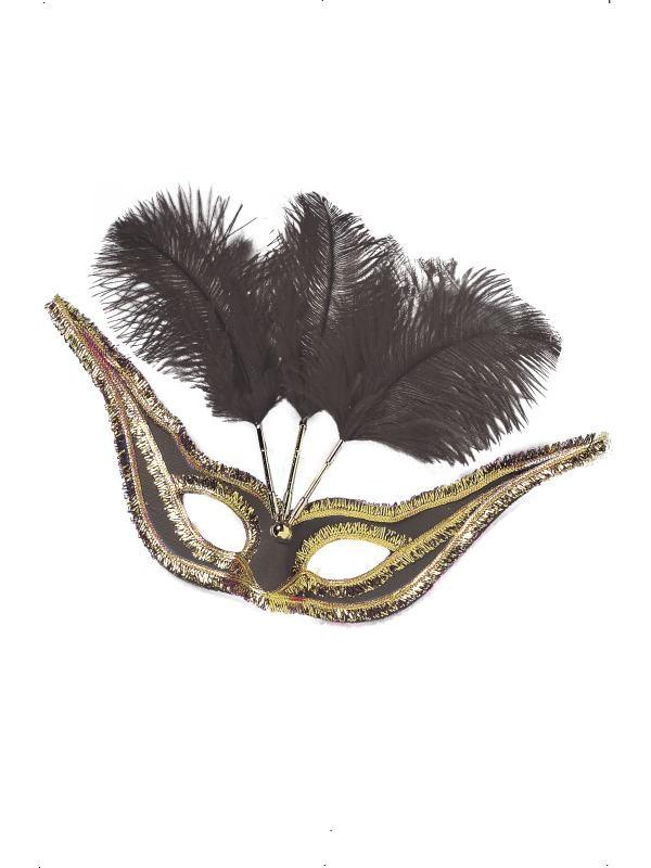 Eyemask- Gran gala mask - Black