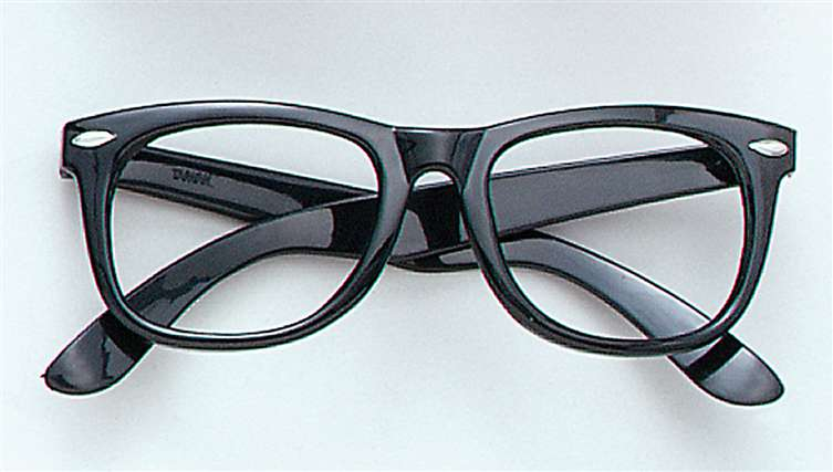 GLASSES: Black rectangular rimmed