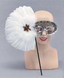 Eyemask- Glitter mask with handle