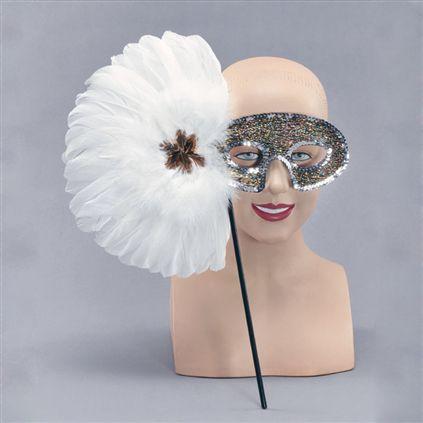 Eyemask- Glitter mask with handle