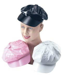 60's pvc cap's- available in 3 colours