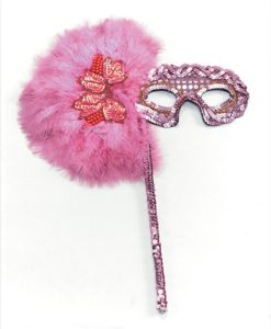 Eyemask- Sequined eyemask with long handle