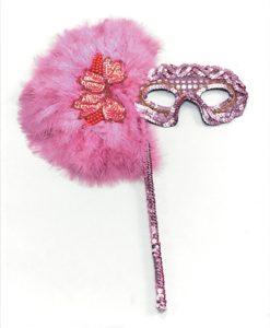 Eyemask- Sequined eyemask with long handle