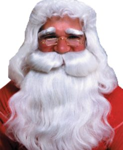 Father Christmas Wig + Beard , Deluxe White