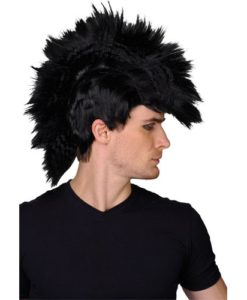 Punk Mohawk Wig - Black