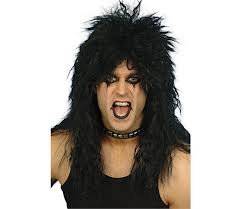 80's Hard Rocker Wig - black