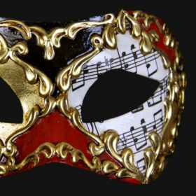 Eye Mask - Red Music Note