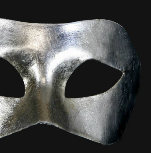 Eye Mask - Metallic Silver