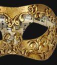 Eye Mask - Gold Music Note