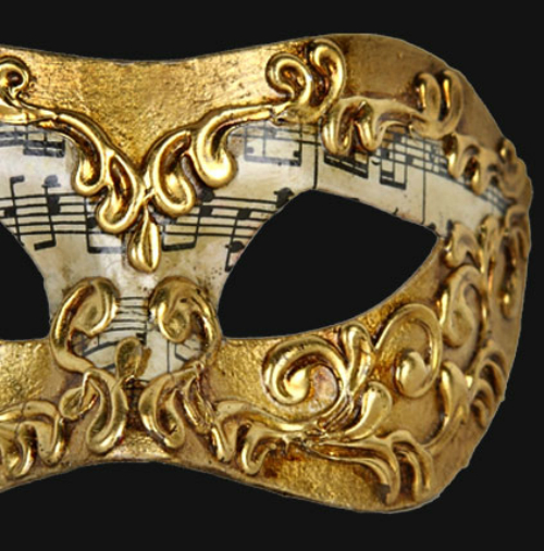 Eye Mask - Gold Music Note