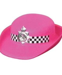 Police Womans Hat - Black or Pink