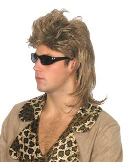 "Wig - 80's ""Terry"" Mullet Wig"