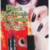 Black Nail Polish + Lipstick