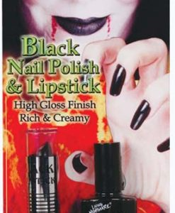 Black Nail Polish + Lipstick