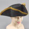 Tri-corn hat Black destressed look