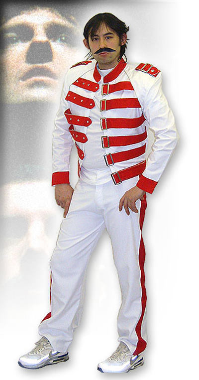 freddie mercury white red for hire fantasy world. Black Bedroom Furniture Sets. Home Design Ideas