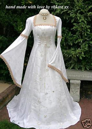 Medieval Wedding Dresses with Sleeves