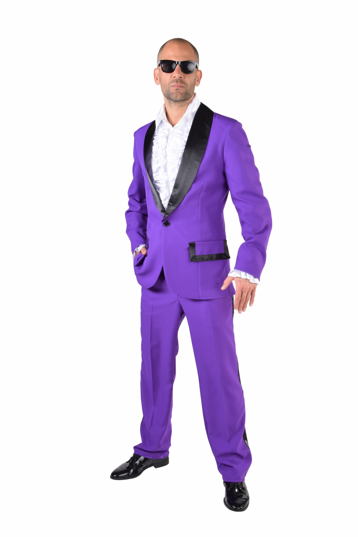 old school prom suit – purple  black – fantasy world